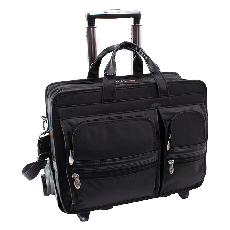The Clinton 17 Inch Detachable-Wheeled Poly Case - Black