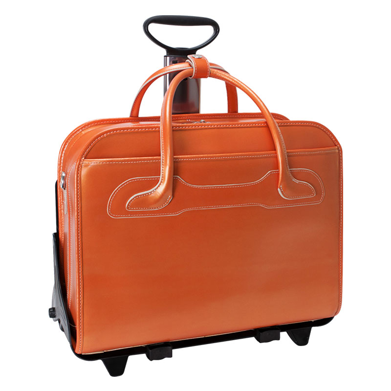 The Willowbrook Detachable-Wheeled Ladies Briefcase  - Orange