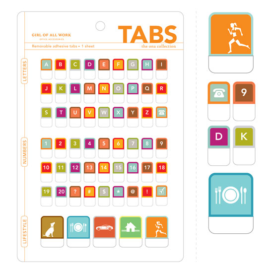 Peel & Stick Tabs - Alphabet, Numbers, Pictograms