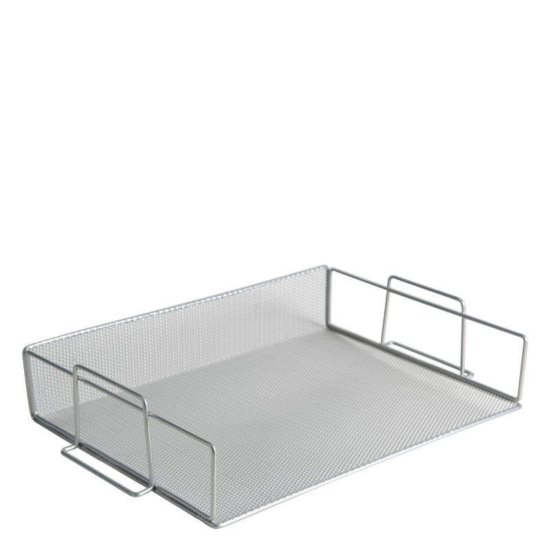 Mesh Stackable Letter Tray - Silver