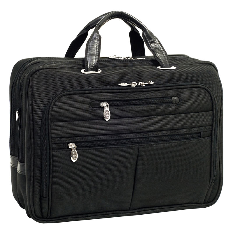 Rockford Nylon Fly-Through Checkpoint-Friendly 17 Inch Laptop Case - Black