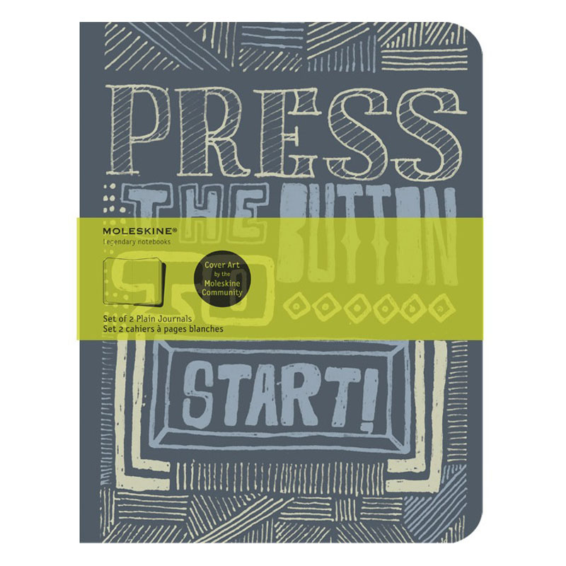 Cover Art Journal Plain - Press the Button to Start