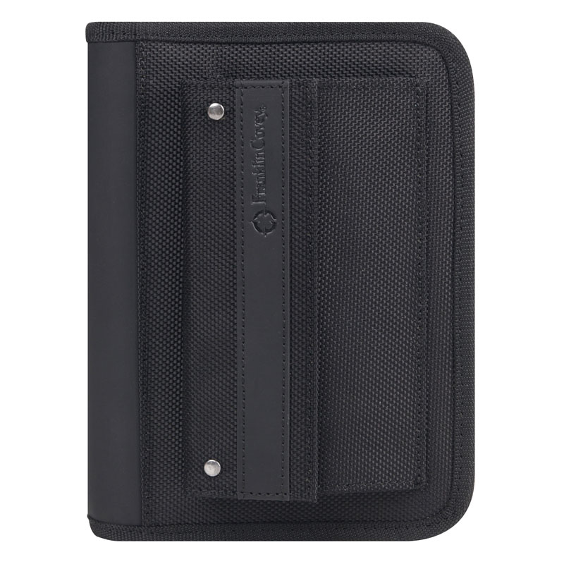 Pocket Friday Nylon Zipper Binder - Black