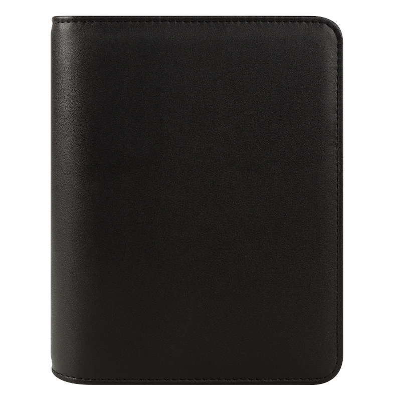 Compact FC Basics Simulated Leather Open Binder - Black