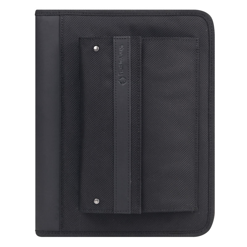 Classic Friday Nylon Zipper Binder - Black