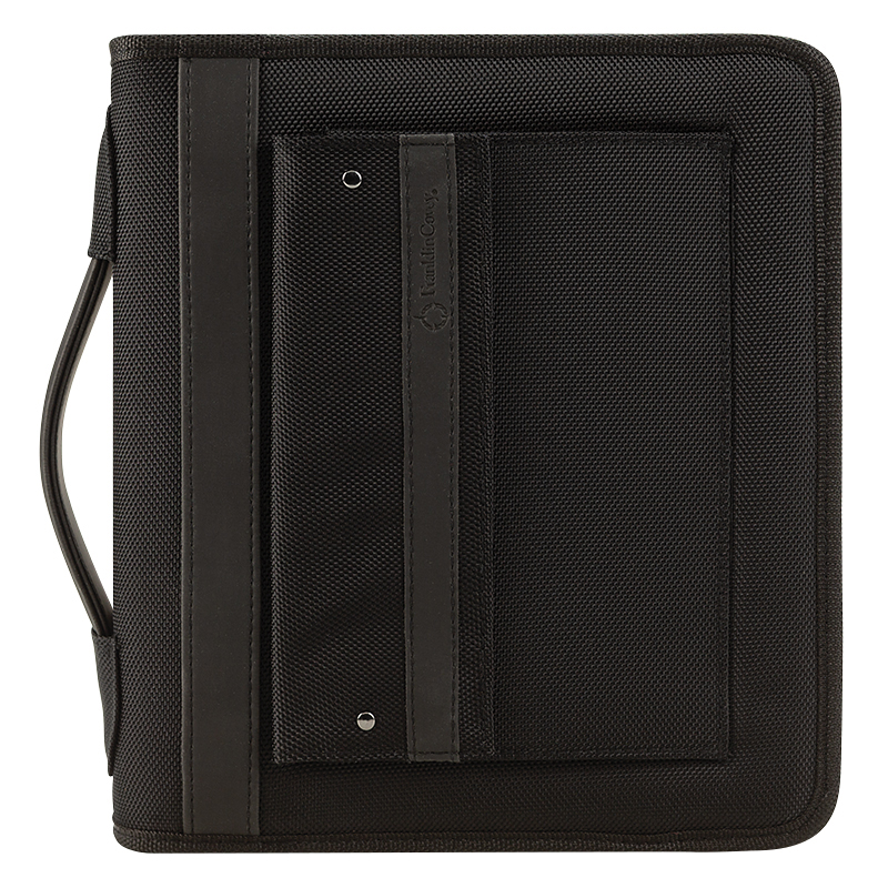 Classic Friday Nylon Zipper Binder With Handles - Black