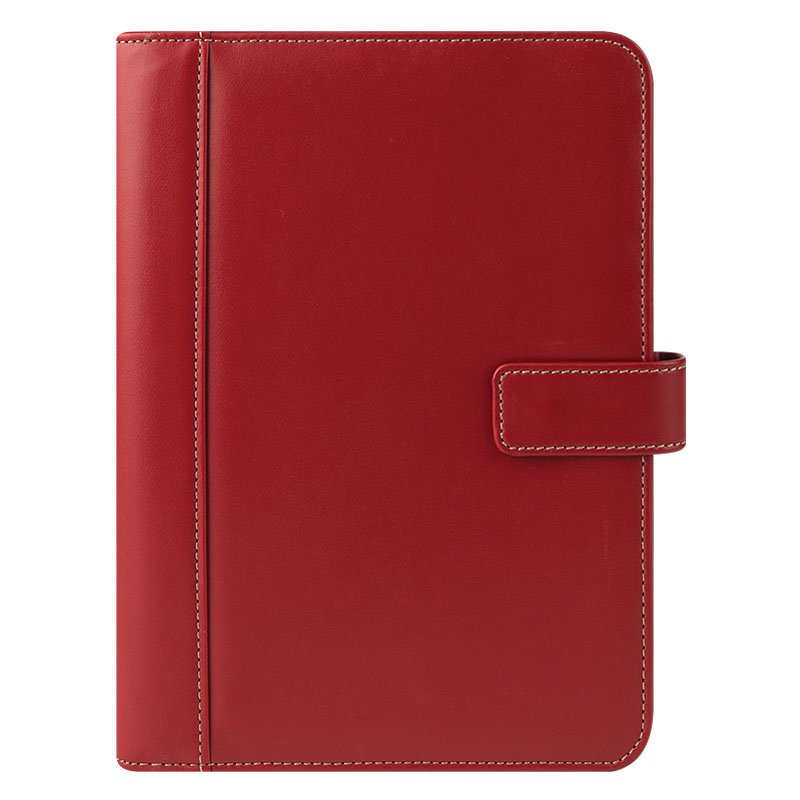 Classic FC Basics Slim Simulated Leather Snap Wire-bound Cover - Red