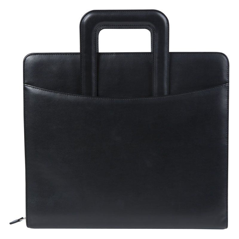 Monarch FC Basics Simulated Leather Zipper Binder With Handles - Black