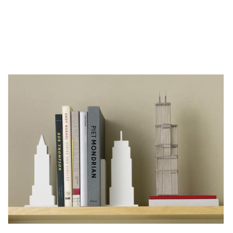 Skyline Bookends Set of 2 - White