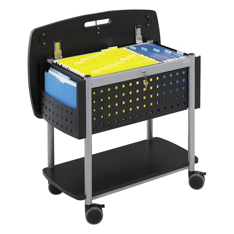 Scoot™ Mobile File with Work-Surface - Black