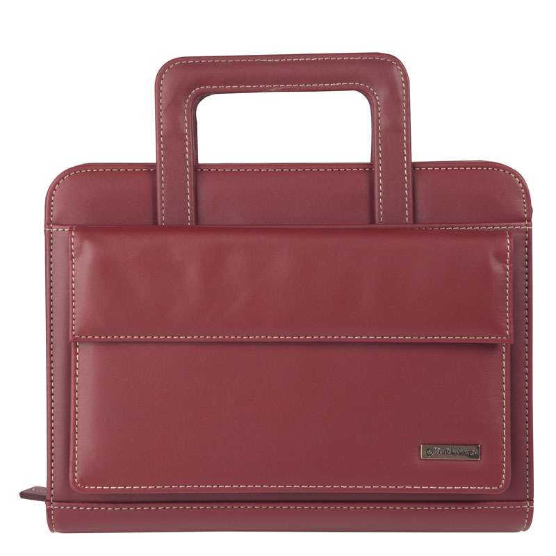 Classic Vinyl Binder with Handles and Pocket Binder - Red