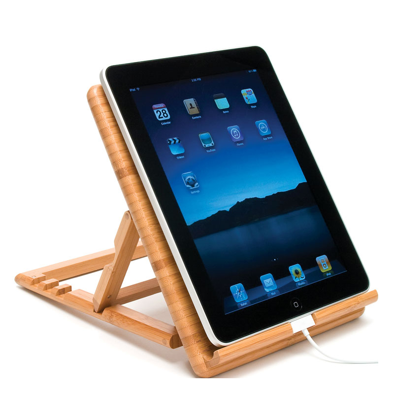 Expandable/Adjustable iPad 2 & The New iPad Stand 4 positions - Bamboo