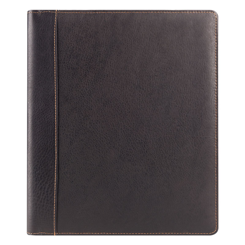 Monarch Breckenridge Leather Open Wire-bound Cover - Brown
