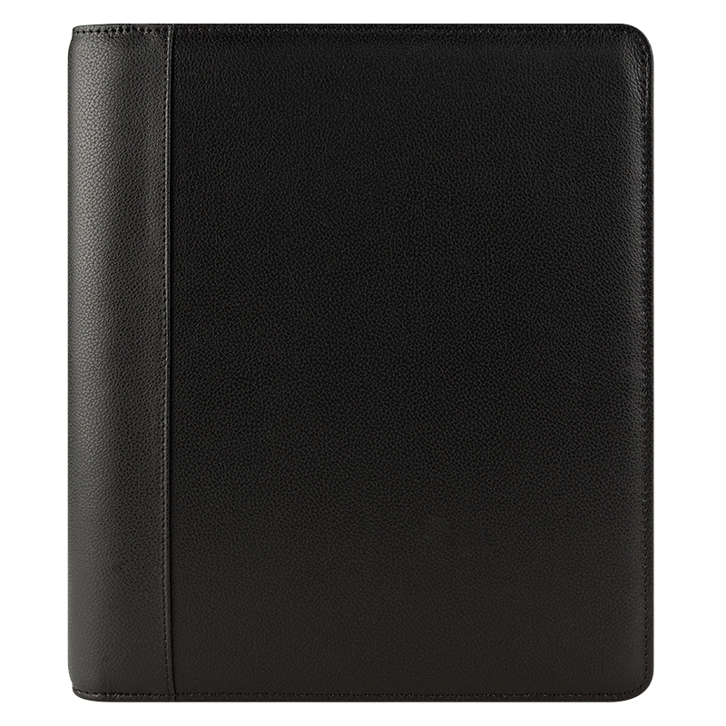 Monarch Franklin Leather Open Binder - Black