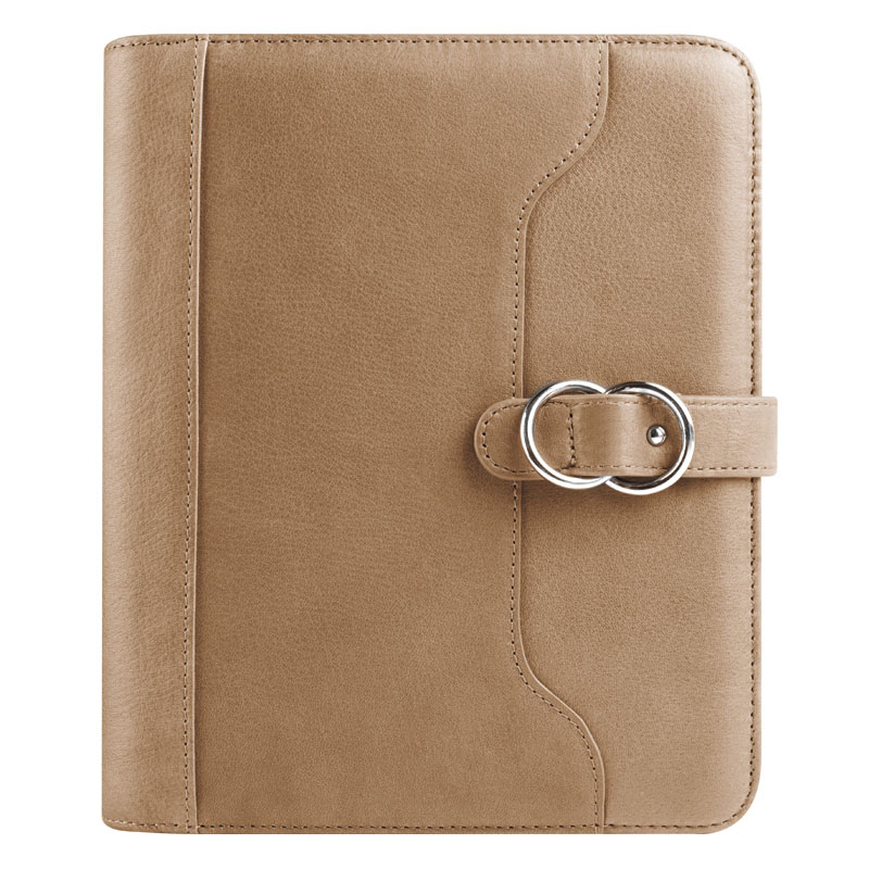 Classic Veronica Leather Snap Binder 1.25 - Latte