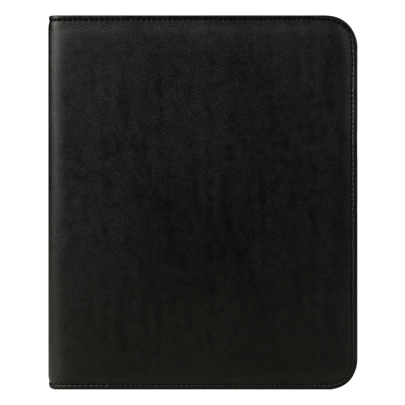 Classic FC Basics Wide Simulated Leather Open Wire-bound Cover - Black
