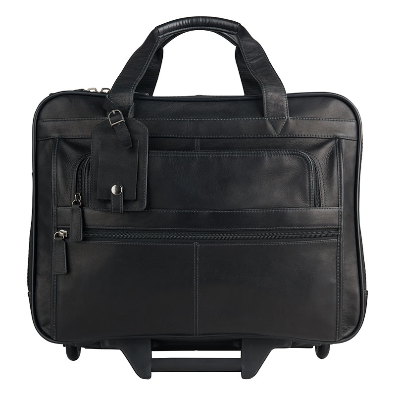Breckenridge Sebastian Wheeled Laptop Case - Black