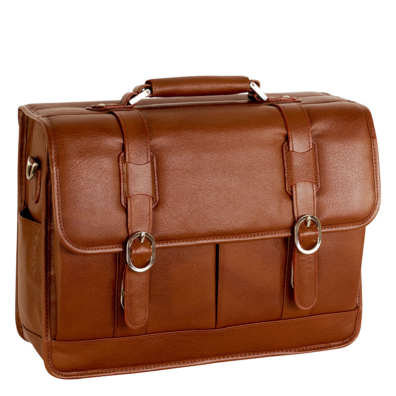 Beverly Leather Laptop Case - Brown