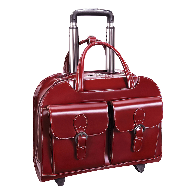 Davis Wheeled Ladies' Laptop Case - Red