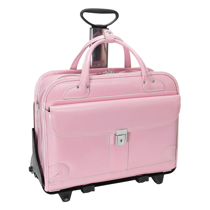 Lakewood Leather Fly-Through™ Wheeled Case - Pink