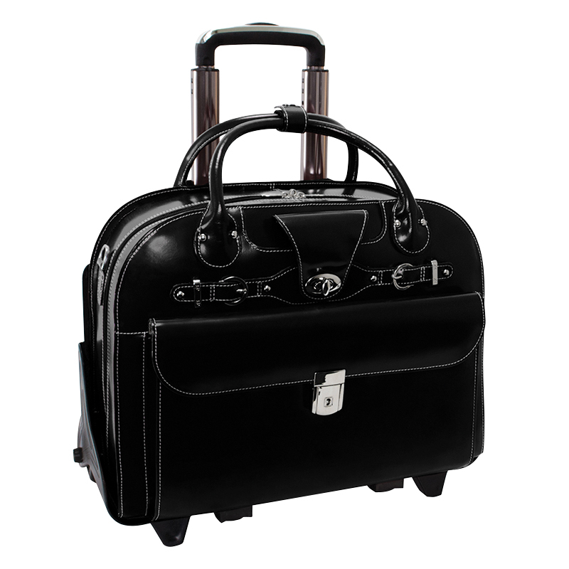 Roseville Leather Ladies' Briefcase - Black