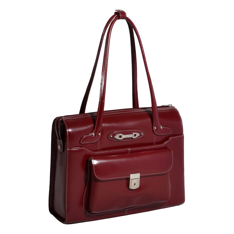 Wenonah Leather Ladies' Briefcase - Red
