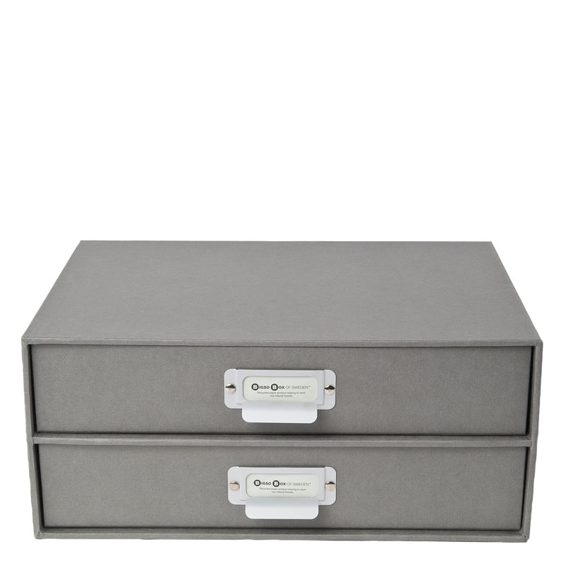Birger Classic 2 Drawers Chest - Grey