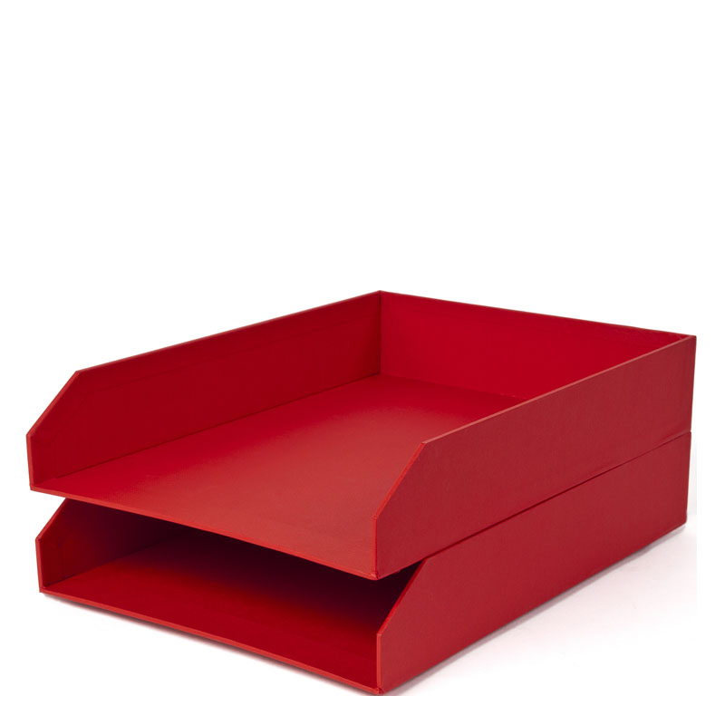 Hakan Letter Tray - Red