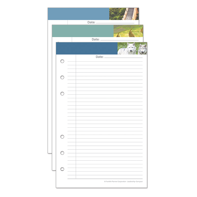 Compact Leadership Portfolio Notepads - Set of 3