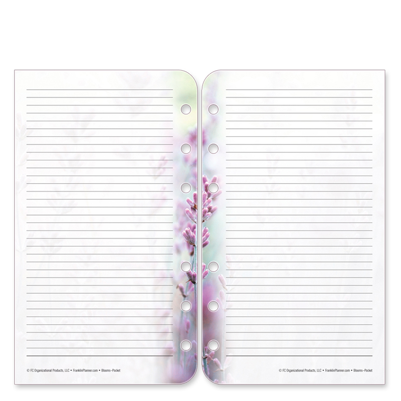 Pocket Floral Blooms Lined Pages