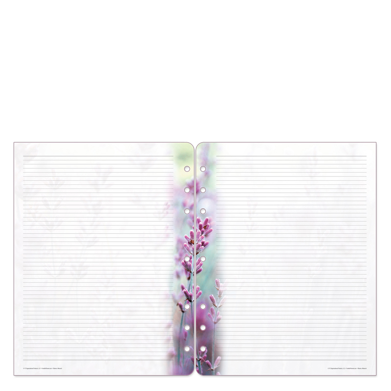 Monarch Floral Blooms Lined Pages