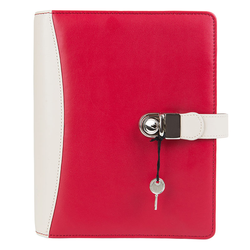 Compact Ashlyn Binder - Red/Ivory