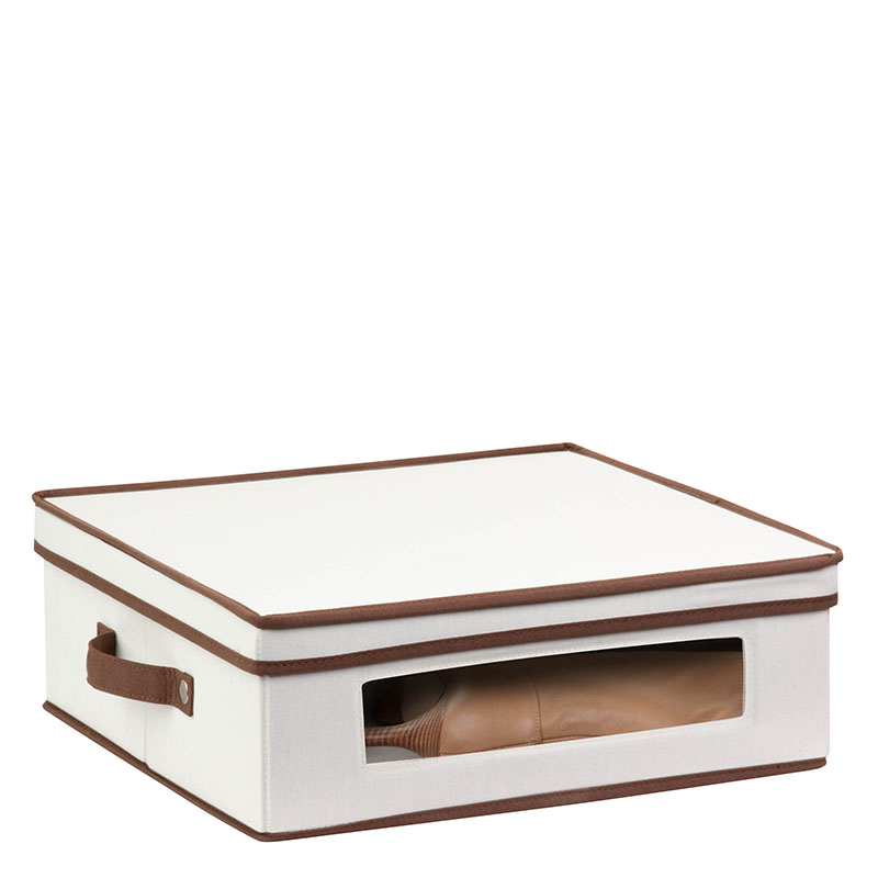 Natural Canvas Window Storage Box Large