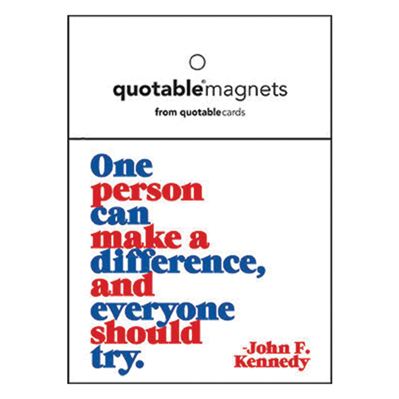 One person can make a difference and everyone should try magnet