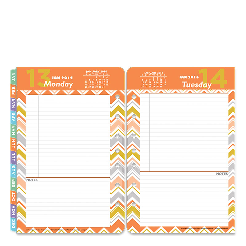 Classic RetroPop Ring-bound Daily Planner - Jan 2014 - Dec 2014