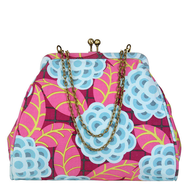 Nora Clutch with Chain - Tea Rose Raspberry