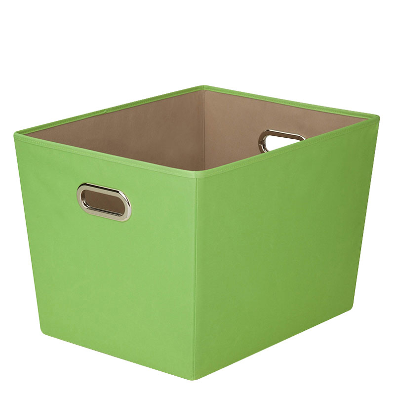 Canvas Storage Bin - Large Green