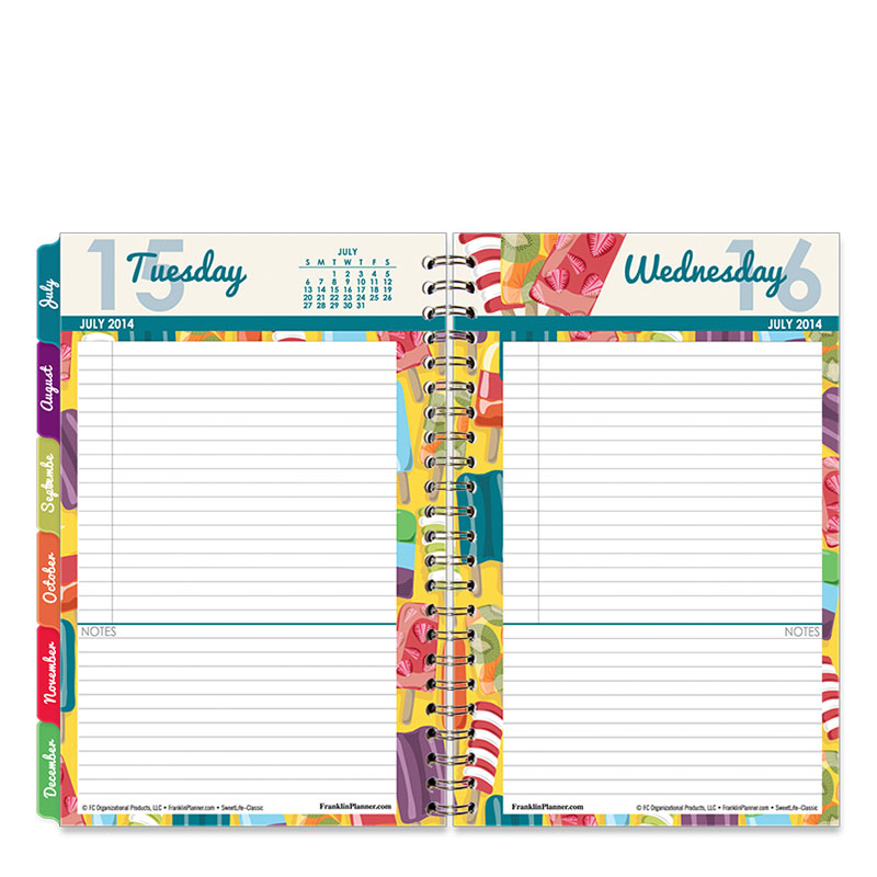 Classic Sweet Life Wire-bound Six Month Planning Notebook - Jul 2014 - Dec 2014
