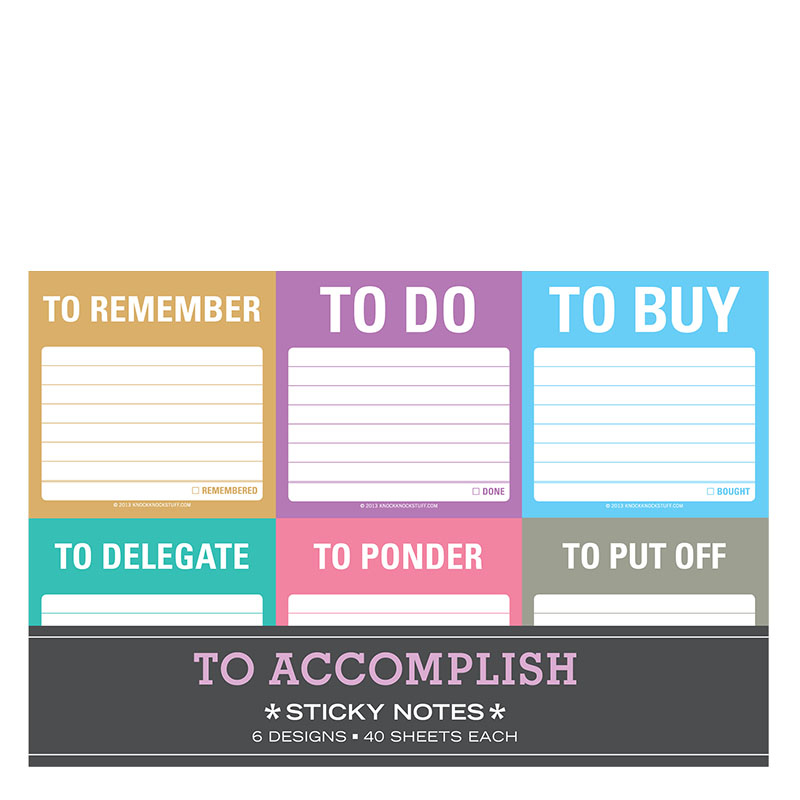 To Accomplish Sticky Notes