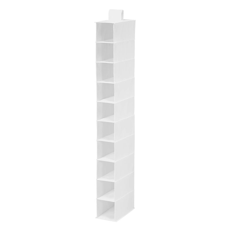 10-Shelf Hanging Organizer - White