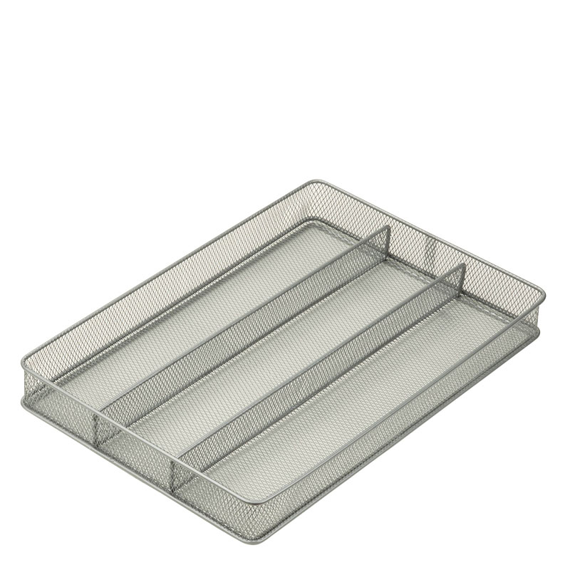 Steel Mesh Drawer Organizer - 3 Compartment