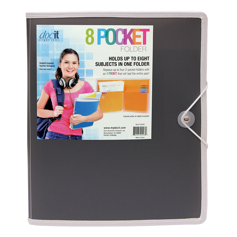 8 Pocket Folder - Gray