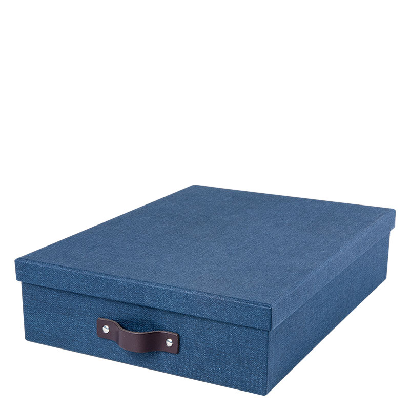 Oskar Document Box A4 - Navy Blue