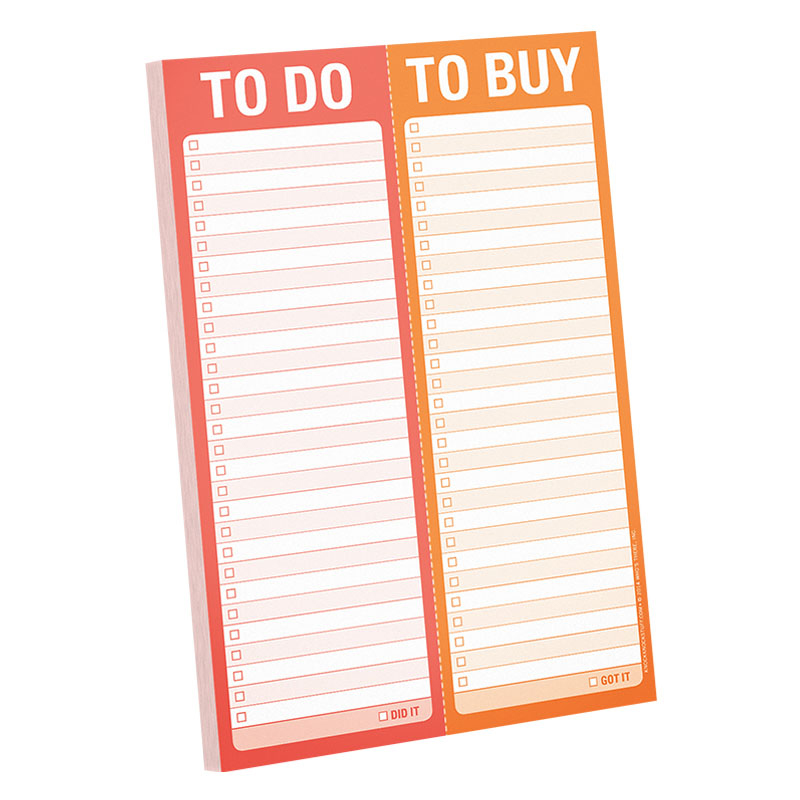 To Do/To Buy Perforated Pad