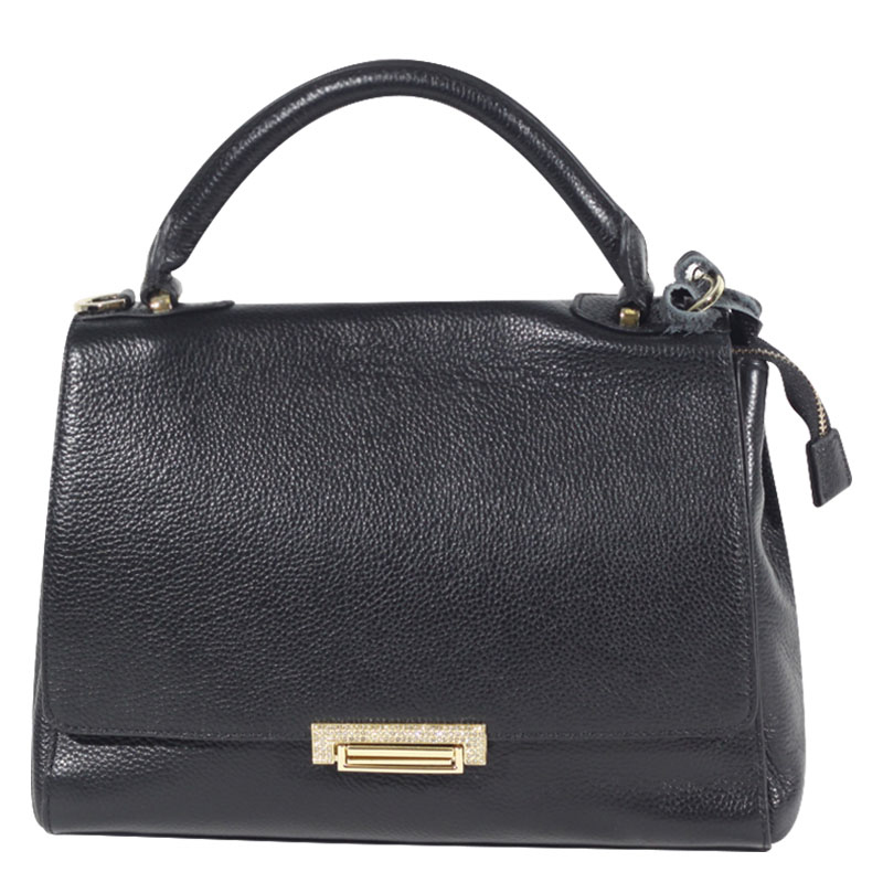 Jasmine Leather Tote - Black