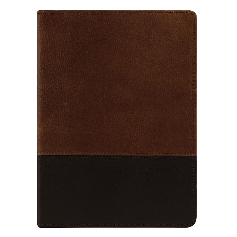 Classic Logan Leather Open Wirebound Cover - Chocolate/Espresso