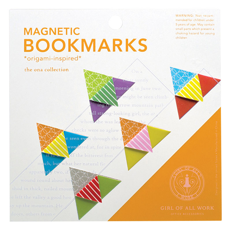 Magnetic Origami Bookmarks - Flags