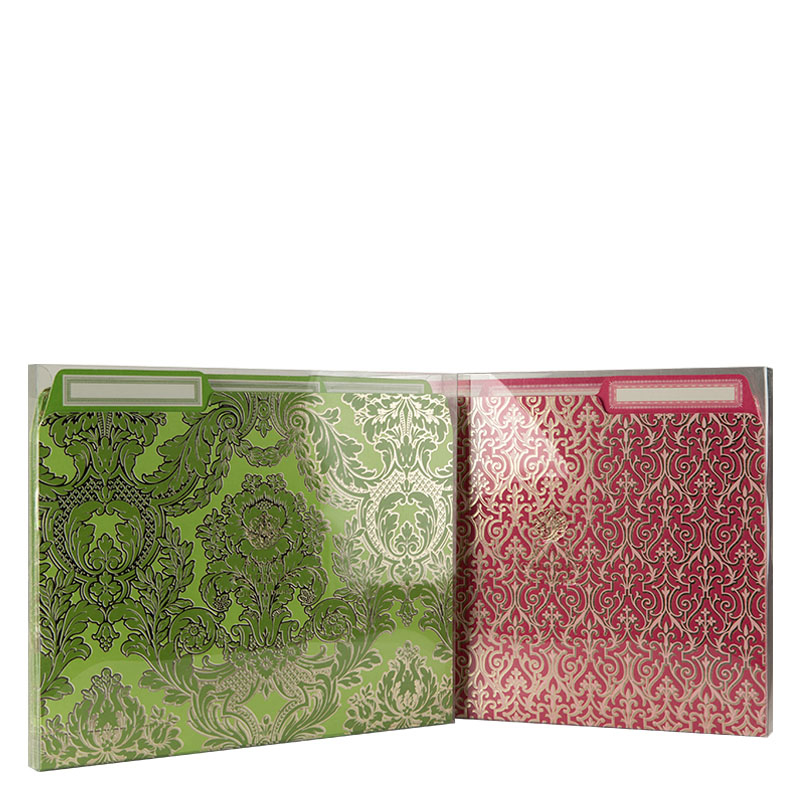 File Folders Set - Pink and Green