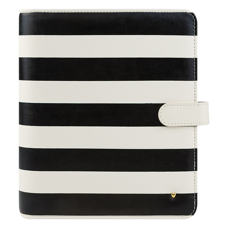 Classic Planner Love Simulated Leather Binder - Striped