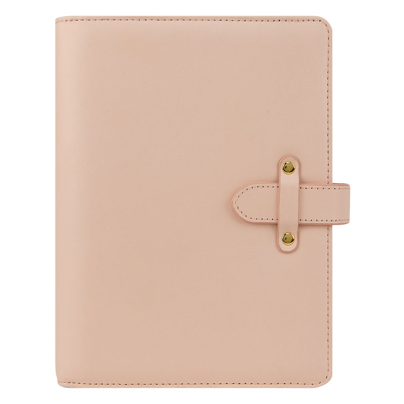Classic Bella Leather Binder - Blush Pink